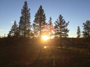 När solen äntligen kommer fram dyker kamerorna upp.